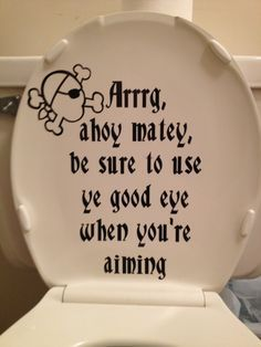 So Need This For The Bathroom Or Our Pirate Themed Rv Pirate Bathroom Pirate Bathroom Decor Nautical Bathroom Decor