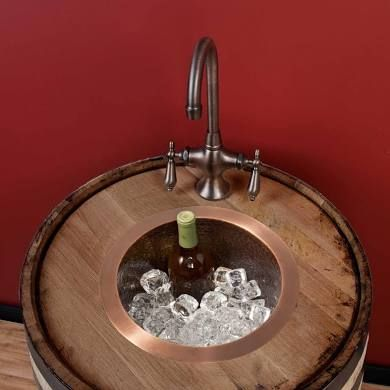 12 Creed Extra Deep Hammered Copper Bar Sink Signature Hardware Copper Bar Sink Bar Sink Copper Bar