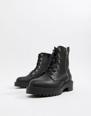 ASOS DESIGN Abra chunky lace up boots