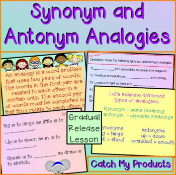 Synonyms And Antonyms Analogies For Promethean Board Synonyms