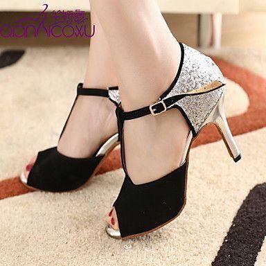 Meijili Womens Dance Shoes High Heel Shoes Glitter Salsa Ballrom Wedding Party Latin Dance Shoes
