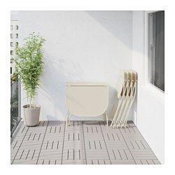 Ikea Sedie Pieghevoli Legno.Saltholmen Tavolo 4 Sedie Pieghevoli Giardino Beige Sedie