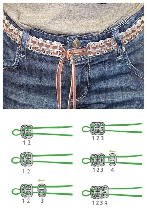 """smarylove: """" How To Make DIY Soda Pull Tab Belt This belt is super cute. And it is super green too. It is made of soda pull tabs. Soda Tab Crafts, Can Tab Crafts, Diy Jewelry Unique, Diy Jewelry Making, Jewelry Crafts, Pop Top Crafts, Pop Tab Bracelet, Pop Can Tabs, Lunette Style"""
