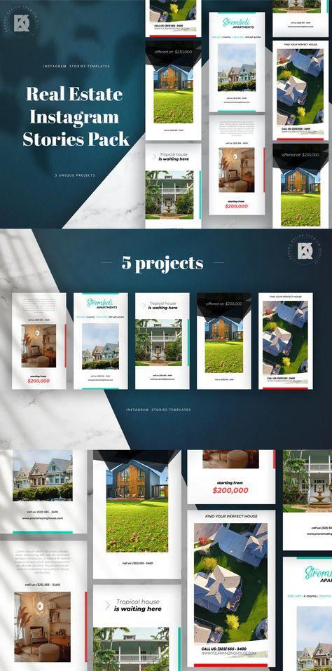 Real Estate Instagram Stories Pack PSD