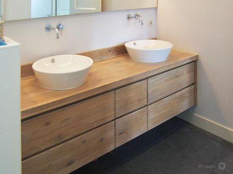 badkamermeubels hout + waskom - Google zoeken