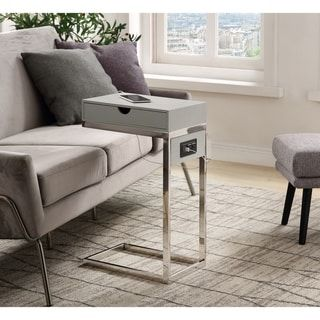 Kalhad C Table With Usb Ports Outlets And Storage Drawer C