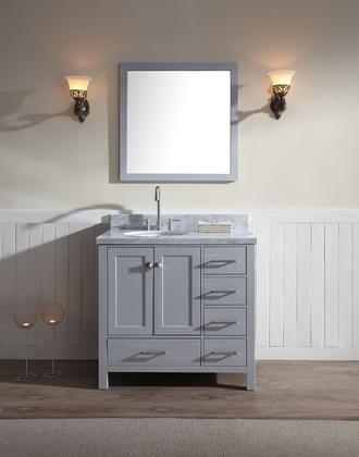 Cambridge Collection Arielgry 37 Left Offset Single Sink Bathroom Vanity With Single Sink Vanity Single Sink Bathroom Vanity Single Bathroom Vanity