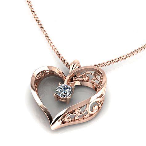 heart Mom With Scroll 14k Yellow Gold Mother Charm Pendant