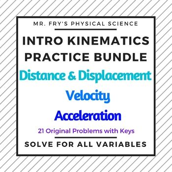 Intro Kinematics Bundle Physical Science Resume Examples Teaching