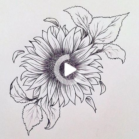 Please check more!! Awesome Ten Reasons Why You Shouldn't Go To Sunflower Tattoo Drawing On Your Own | sunflower tattoo drawing #tattoodrawing #tattoosketches