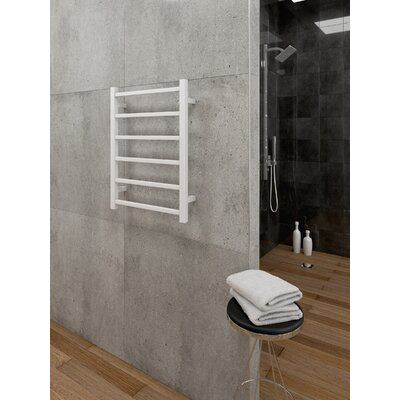 Cozy In Paris Themis Wall Mounted Electric Towel Warmer Finish White In 2020 Towel Warmer Wall Mount Cozy