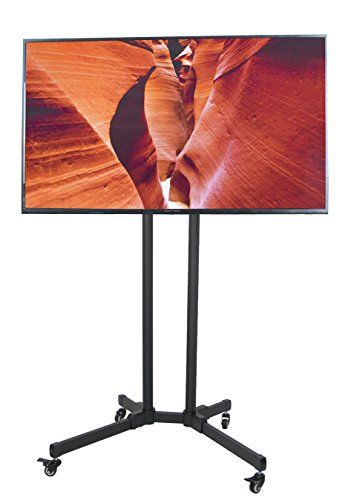 "TV Cart for LCD LED Plasma Flat Panels Stand with Wheels Mobile fits 32/"" to 65/"""