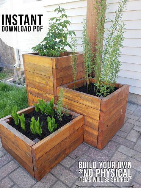 DIY Planter Boxes plans / planter box plans/pdf plan/ garden | Etsy