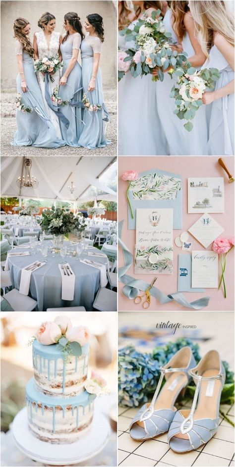light blue and greenery wedding color ideas weddings weddingcolors weddingideas blueweddings weddinginspiration deerpearlflowers weddingdecoration SexyWeddingDresses is part of Blue themed wedding - Visit the post for