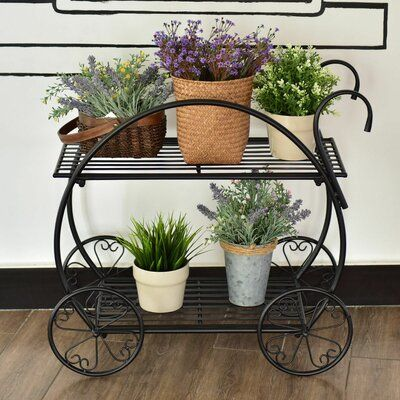 Ophelia Co Bobby Flower Cart Multi Tiered Plant Stand Flower