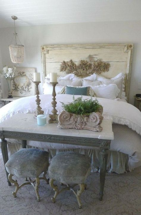 Shabby chic bedroom decoration ideas (37) | French Country ...