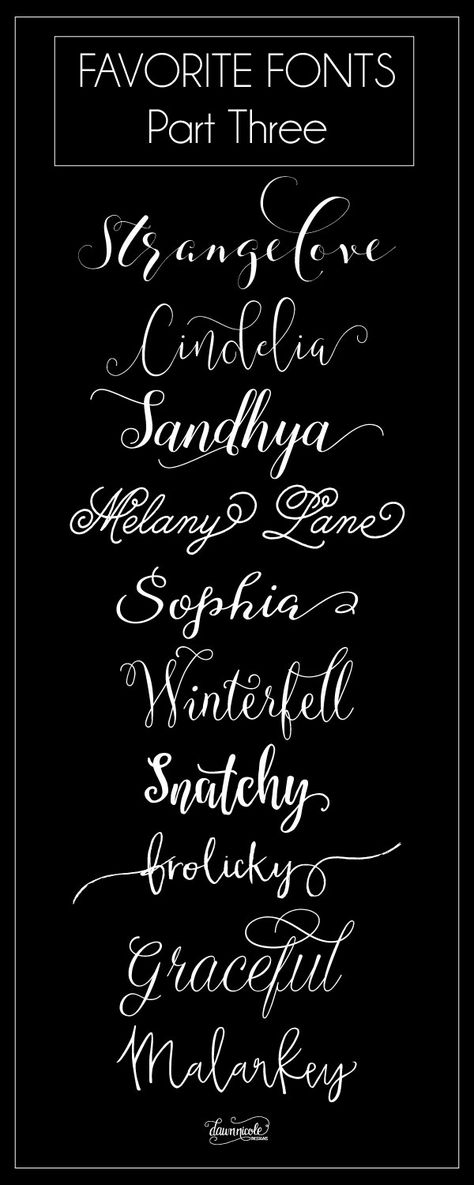 Favorite Fonts, Part Three. Ten more of my favorite commercial use fonts to love! | dawnnicoledesigns.com