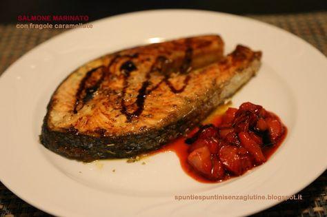#salmone marinato al #curry con #fragole all'aceto #balsamico di Spunti e spuntini senza glutine  Scopri le ricette: http://www.glutenfreetravelandliving.it/gffd-ricette/