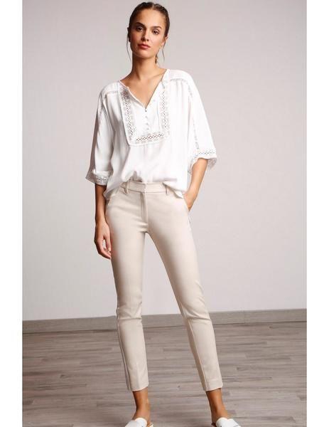 De Pantalón Lateral Alba Para Cinta MujerPantalones Beige Y Conde g76ybYfv