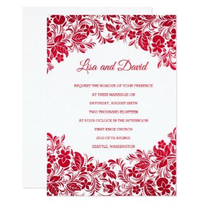 Wedding Invitation Zazzle Com Wedding Invitations Floral