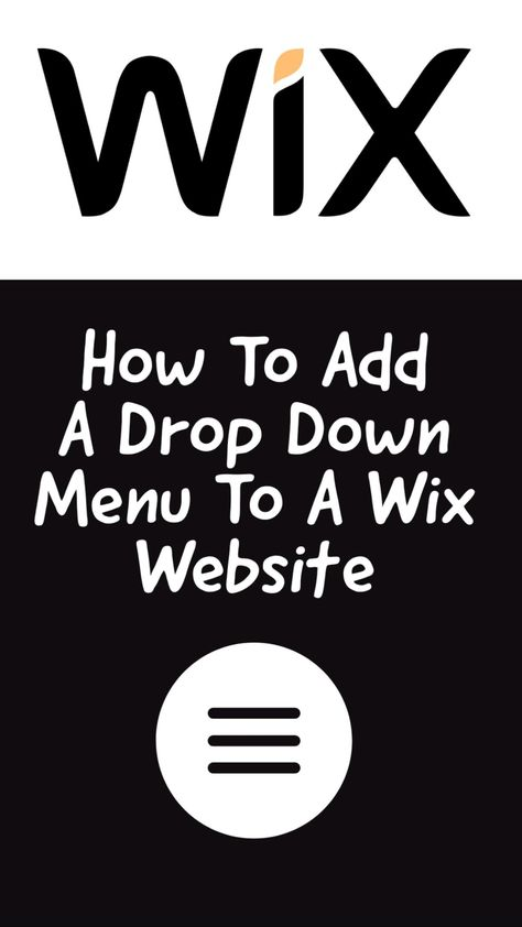 Learn How To Add a Drop Down Menu To A Wix Website