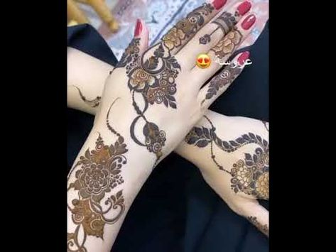 نقش حناء عروسه قمه الجمال Youtube Henna Hand Tattoo Hand Henna Hand Tattoos
