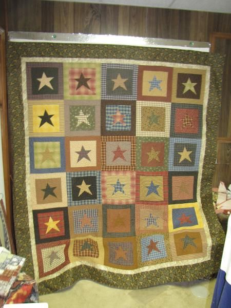 Crazy stars quilt by buggy barn