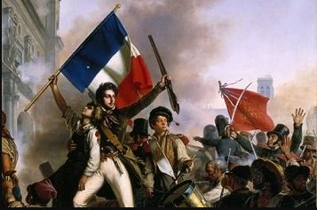 History: This picture shows a person holding the France flag in the French Revol... - #france #french #history #holding #person #picture #Shows - #BastilleDay