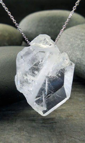 Quartz Pendant Raw Crystal Necklace