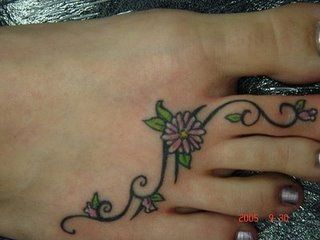 Small Foot Tattoos For Women   Another ideas of foot tattoo designs today   Tattoos for women