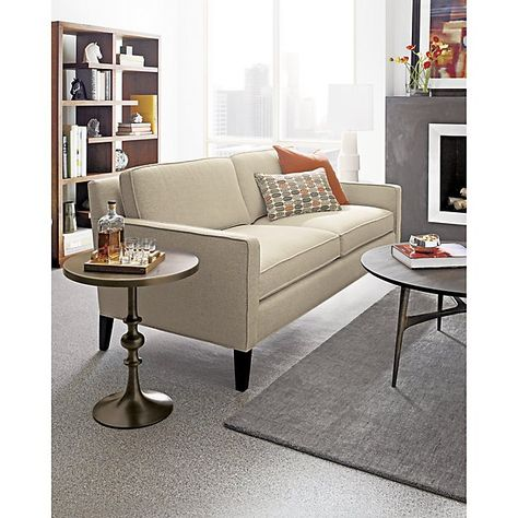 Baxter Grey Wool Rug Crate And Barrel Apartment Sofa Small