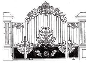 desain pintu gerbang rumah mewah