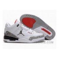 Air Jordan Retro 3 White Grey Red 136064102