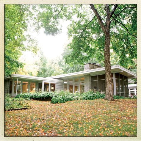 Anne and Tobias Shapiro's midcentury gem is, literally, the house that Grandpa built. Style At Home, Minneapolis, Mid Century Exterior, Mid Century House, Modern Exterior, Mid Century Design, Architecture Design, Chinese Architecture, Architecture Office