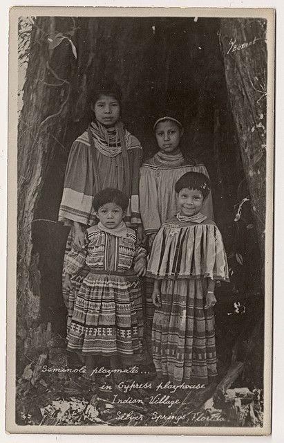 Seminole Children circa 1920 by Yenshee Baby, via Flickr