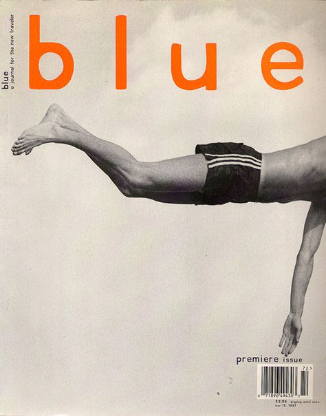 blue magazine cover- so simplistic but one of the most stunning mag covers of all time