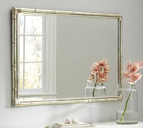 Bamboo Mirror Gold Accent With Images Mirror Wall Bedroom