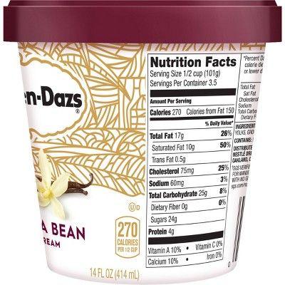 haagen dazs single serve cups nutrition