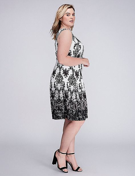 f9b8a5884d Printed Scuba Fit   Flare Dress by Gabby Skye