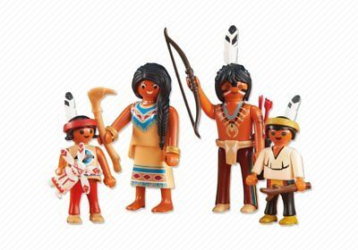 Playmobil Add On 6322 Native American Family New Factory Sealed Playmobil Native American Preschool Toys
