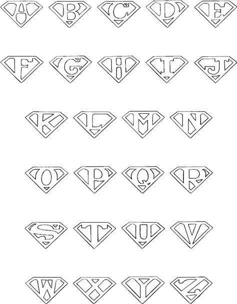 Colorbook Superman Alphabet Diytattoo Alfabe Boyama Sayfalari