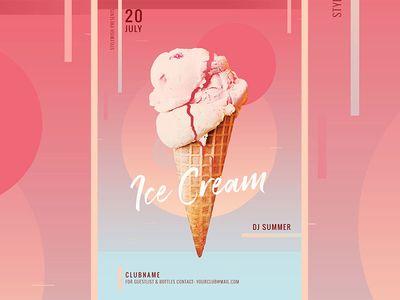 Ice Cream Flyer Pamphlet Design Ice Cream Cream