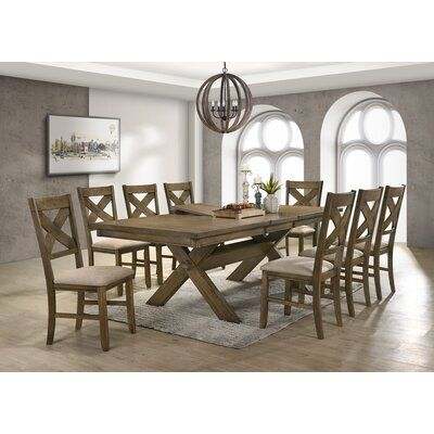 Gracie Oaks Poe 9 Piece Extendable Dining Set Dining Room Sets