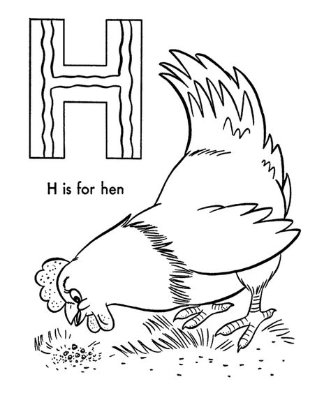 Abc Alphabet Coloring Sheets Abc Hen Animals Coloring Page Activity Sheets H Is For Hen Honking Animal Coloring Pages Coloring Pages Abc Coloring Pages