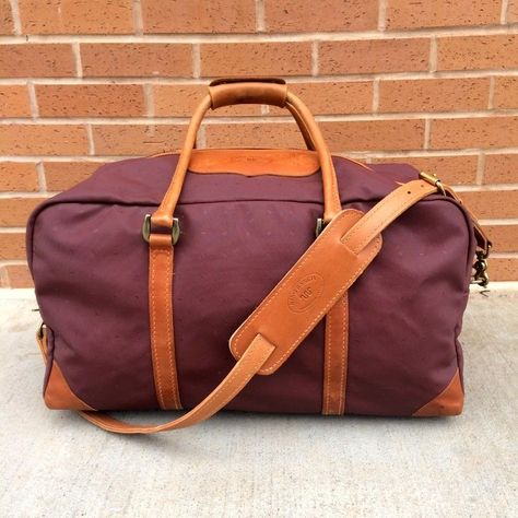 a9468321433f Vintage King Ranch Large XXL Duffle Canvas and Tan leather Trim Bag #Canvas  #DuffleGymBag