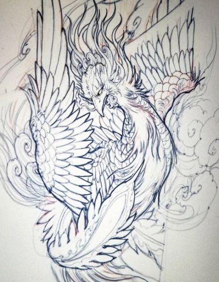 Super Phoenix Bird Drawing Style 59 Ideas Japanese Tattoo Art Phoenix Tattoo Japanese Phoenix Tattoo