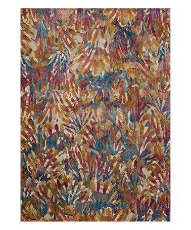 Another great find on #zulily! Red & Blue Tropical Rug #zulilyfinds