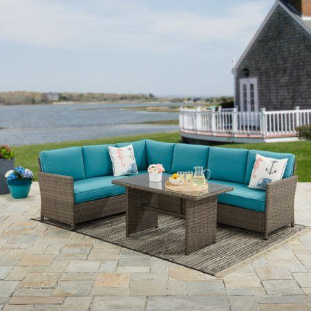 666287f7b6aed2146d561badfb869170 - Better Homes And Gardens Teal Flowers 5 Piece Set