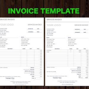 Invoice Template Business Invoice Receipt Template Etsy Invoice Template Word Invoice Template Photography Invoice Template