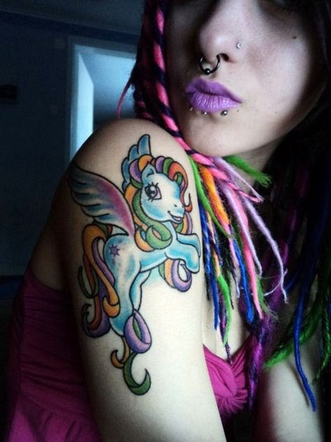 My Little Pony Tattoos I love the colors on this one!